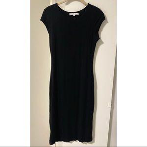 Basic Black Body Con Dress Cotton Medium